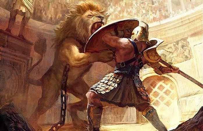 combate contra leones