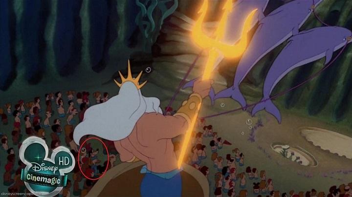 Curiosidades de películas de Disney: cameo goofy en la sirenita