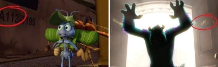 Curiosidades de películas de Disney a113 pixar