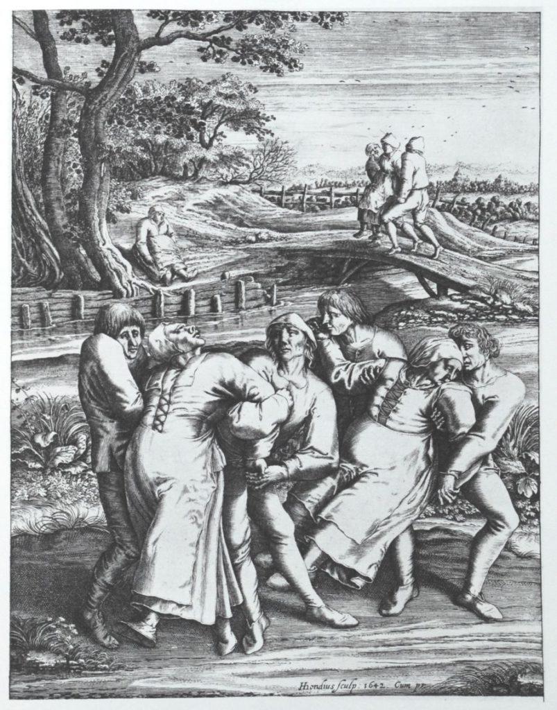 pintura de la epidemia de baile de 1518