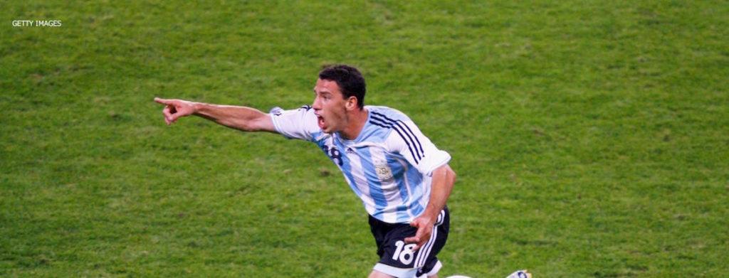 maxi rodriguez celebrando su gol a mexico alemania 2006
