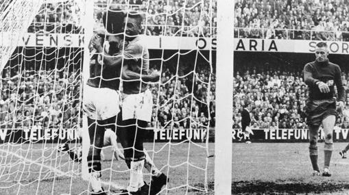 mejores goles de los mundiales. gol de pele a suecia en 1958