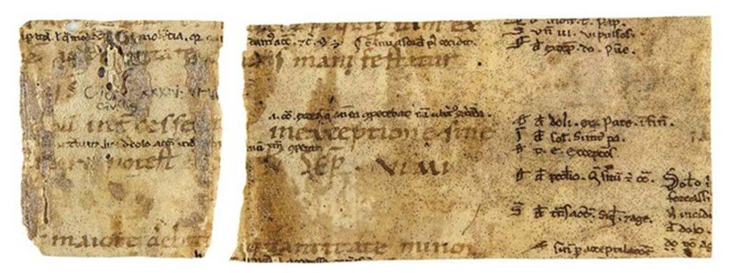 Fragmento del código de Justiniano