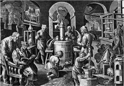 ¿Qué es la Alquimia? alqumistas trabajando