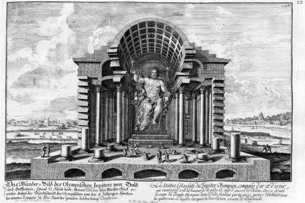 maravillas del mundo antiguo: estatua de zeus en olimpia