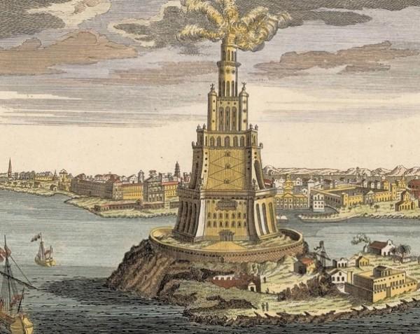 maravillas del mundo antiguo: faro de alejandría