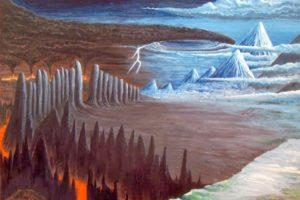 ginnungagap. origen del mundo en la mitología nórdica