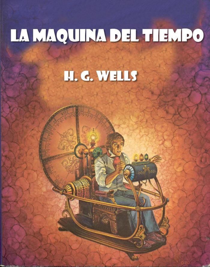 portada de la máquina del tiempo de H.G. Wells