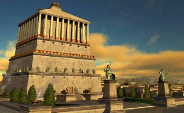 maravillas del mundo antiguo: mausoleo de halicarnaso