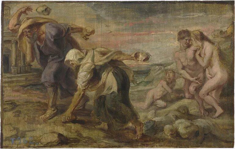 Mito de Deucalión y Pirra ¡El diluvio en la mitología griega!
