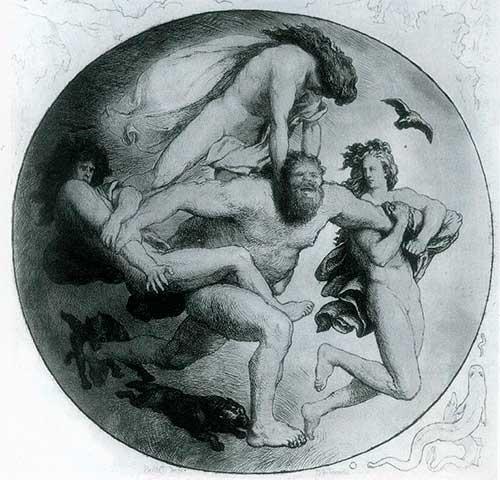 origen del mundo en la mitología nórdica: Muerte de Ymir