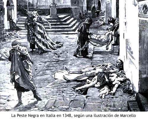 muertos en las calles de europa del siglo xiv