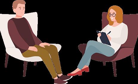 terapeuta y paciente