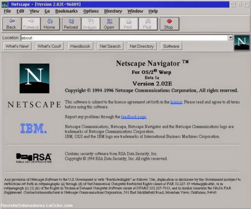 interfaz de netscape