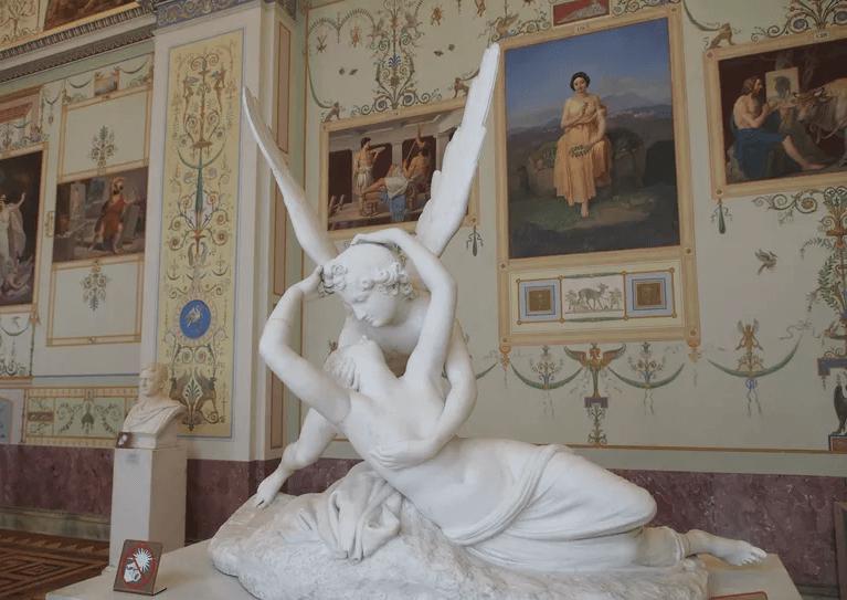 Escultura de Cupido y Psique