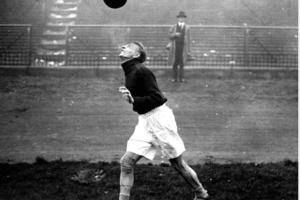 Matthias Sindelar dominando el balón