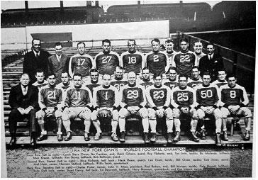 equipos más antiguos de la NFL New York Giants