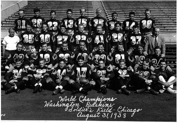 equipos más antiguos de la NFL Washington Redskins