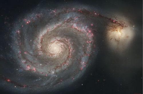 La galaxia Remolino y NGC 5195