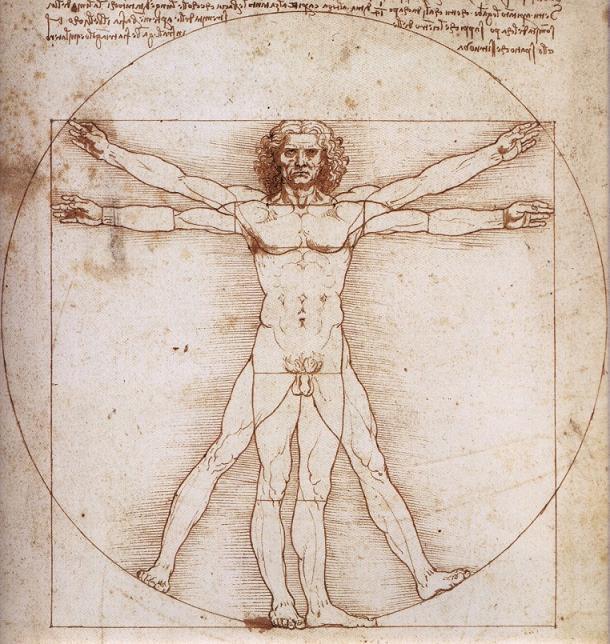 Hombre de Vitruvio (c. 1490)