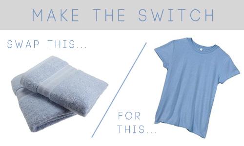 Una camiseta sostendrá tu cabello mojado mejor que una toalla.