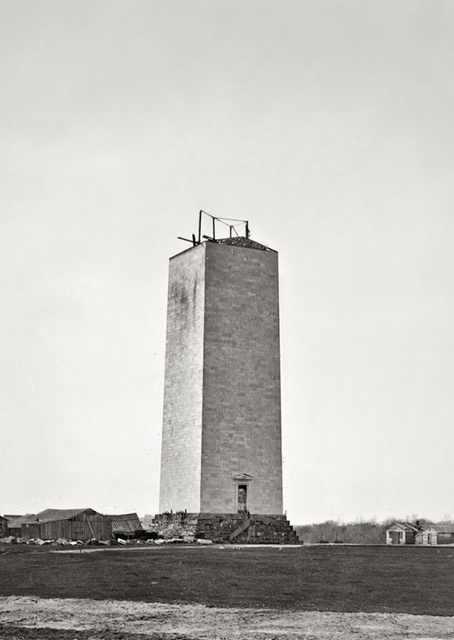 El Monumento a Washington durante la interrupción de la construcción, 1857.
