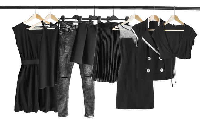 ropa oscura