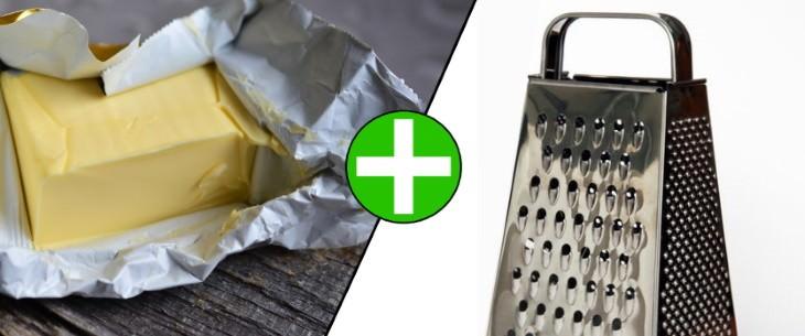 Use un rallador para preparar su mantequilla fría