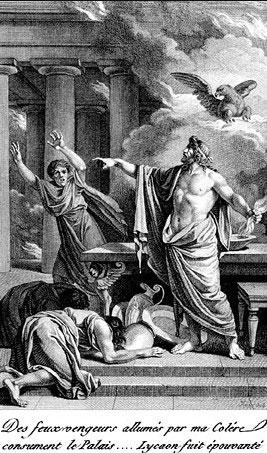 Zeus y los hijos de lycaon