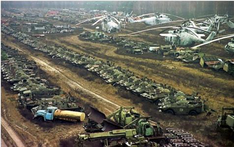 ejército en Chernóbil