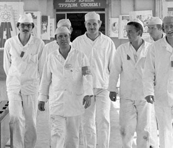 trabajadores de chernobyl